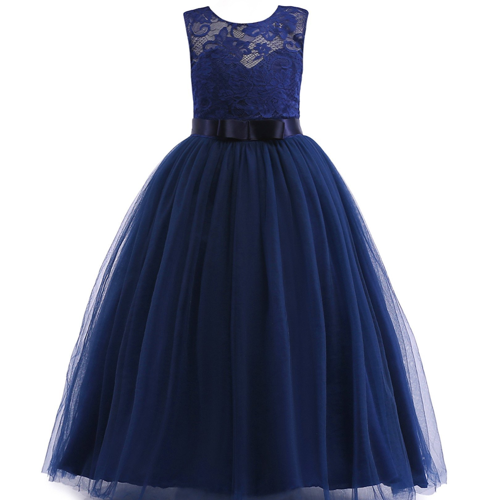 Glamulice Girls Lace Bridesmaid Dress Long A Line Wedding Pageant Dresses Tulle Party Gown Age 3 14y 11 12y O Navy Blue On Galleon Philippines,Formal Dress To Wear To Wedding