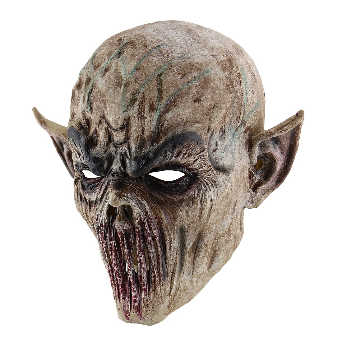 Hophen Scary Halloween Mask Terror Ghost Devil Mask Dance Party Scary Biochemical Alien Zombie Caps Mask by Hophen