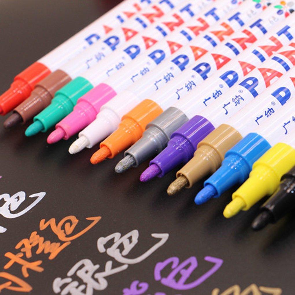 Bobury Marcador de color de 1pc Pista del neum/ático Pintura de goma Pintura de metal