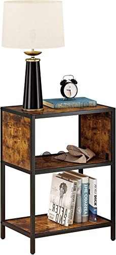 JEROAL Rustic End Table