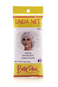 Betty Dain Unda Net Sleep Cap/Hairnet, Non-Woven Breathable Fabric, Protects Hair While You Sleep, Ideal for Industrial and Food Service Environments, XL, 24 Per Pack