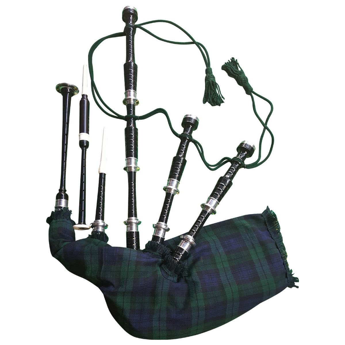 AJW Bagpipes Beginner Full Set with book Learn to play bagpipe