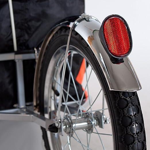 TecTake Remolque de bicicleta bici para el transporte de cargas reclinada monociclo con bolsa: Amazon.es: Deportes y aire libre