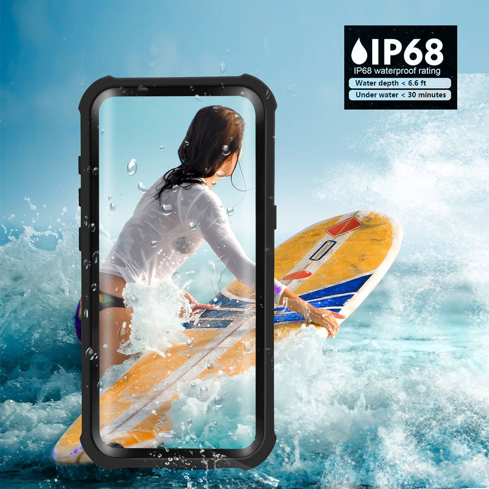 Galaxy S8 Waterproof Case, Besinpo Underwater 6.6ft 30 minutes Full Body cases, military grade protective cover with kickstand for Samsung Galaxy S8 Only(5.8inch,Black) by Besinpo (Image #2)
