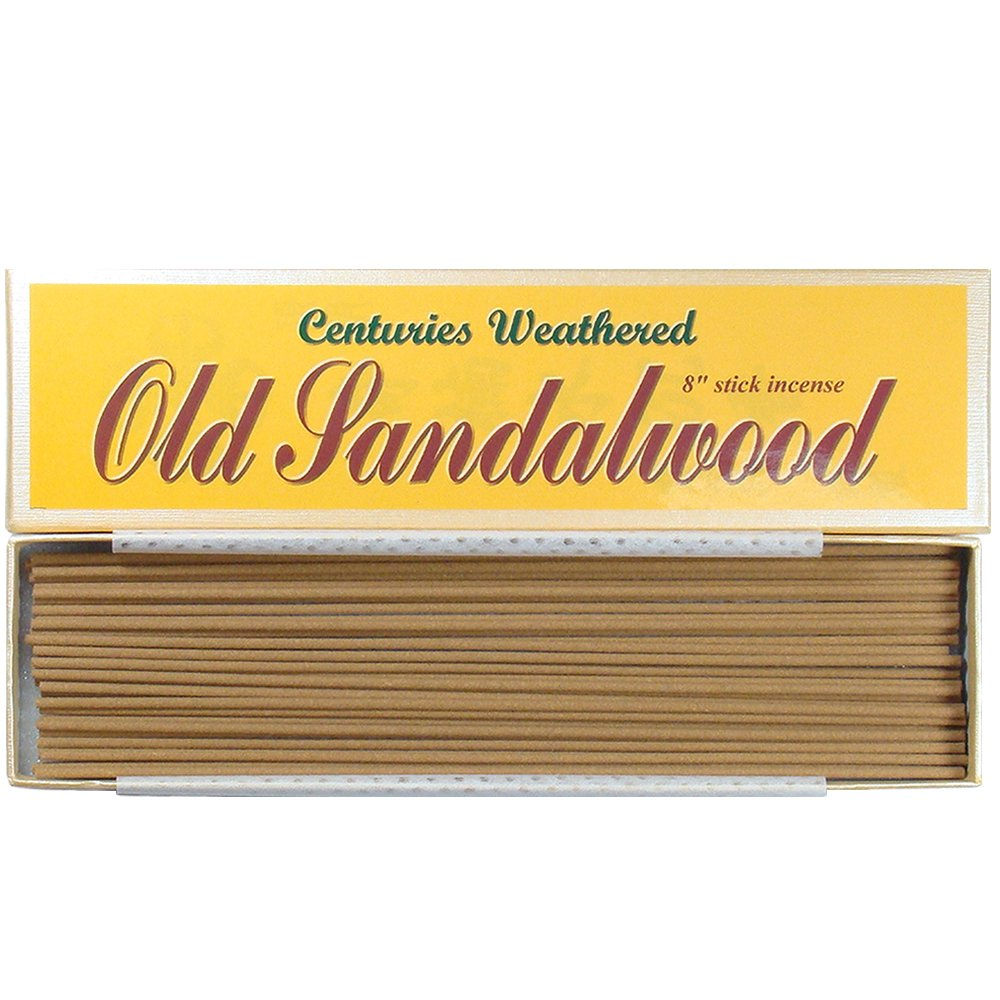 Indian Centuries Weathered Old Sandalwood - 8'' stick incense - 100% Natural - L007T