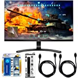 """LG 27"""" Screen LED-lit Monitor (27UD68-P) with Xtreme Performance TV/LCD Screen Cleaning Kit, Xtreme 6 Outlet Power Strip & 2x General Brand HDMI to HDMI Cable 6'"""
