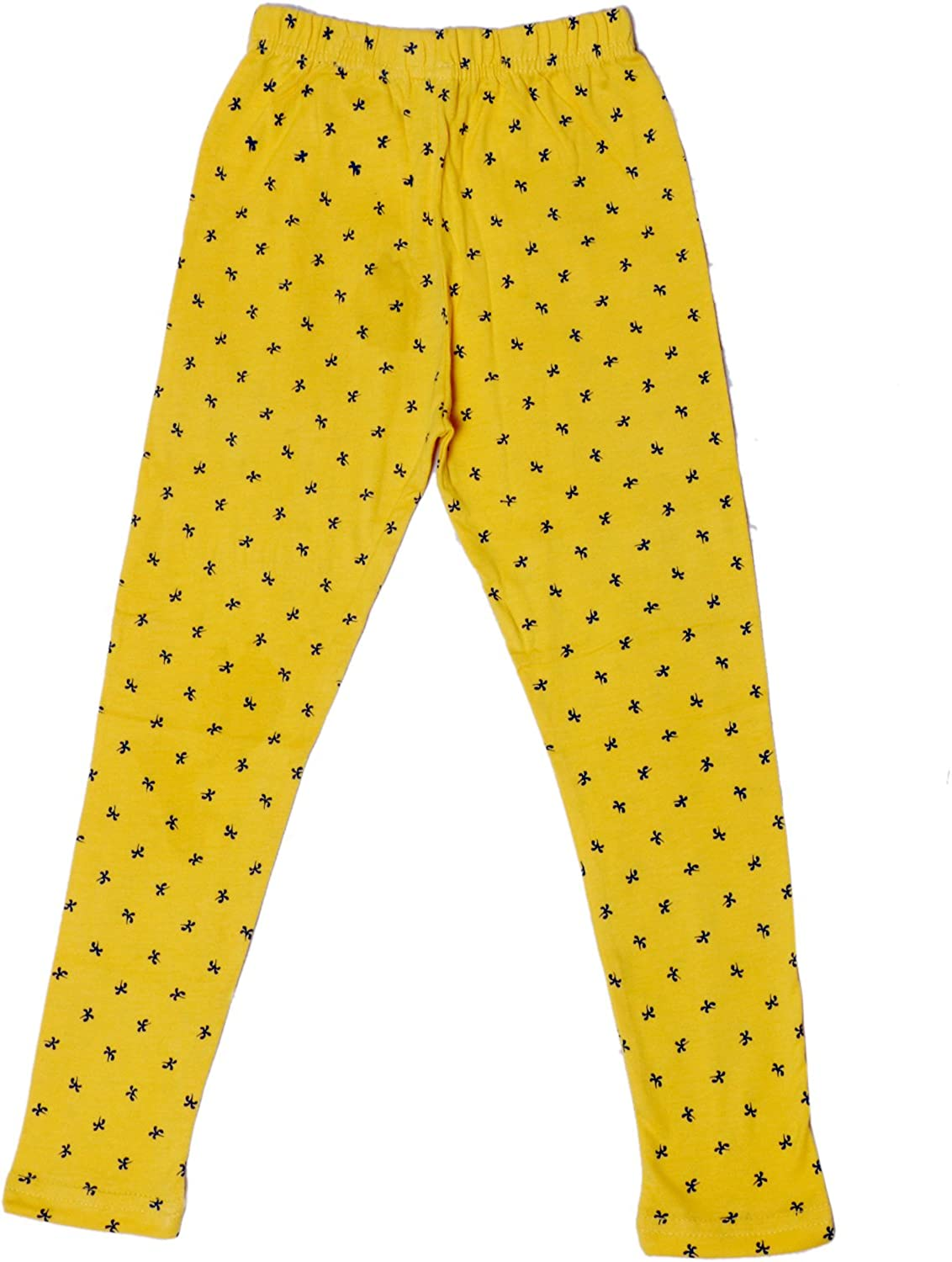 Indistar Girls Super Soft and Stylish Cotton Printed Legging Pants Pack of 2