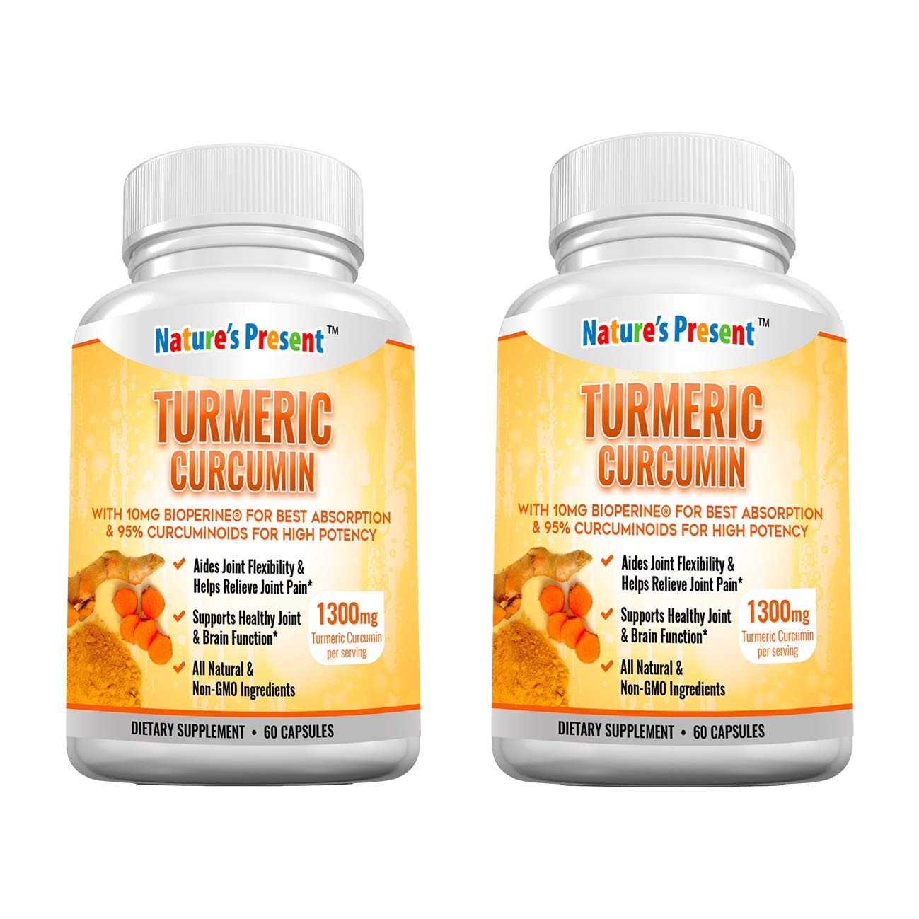 Turmeric Curcumin with Bioperine and 95 Standardized Curcuminoids, Best Absorption and Max Potency, Anti-inflammatory, Joint Pain Relief and Antiaging Supplement, GMP Certificated
