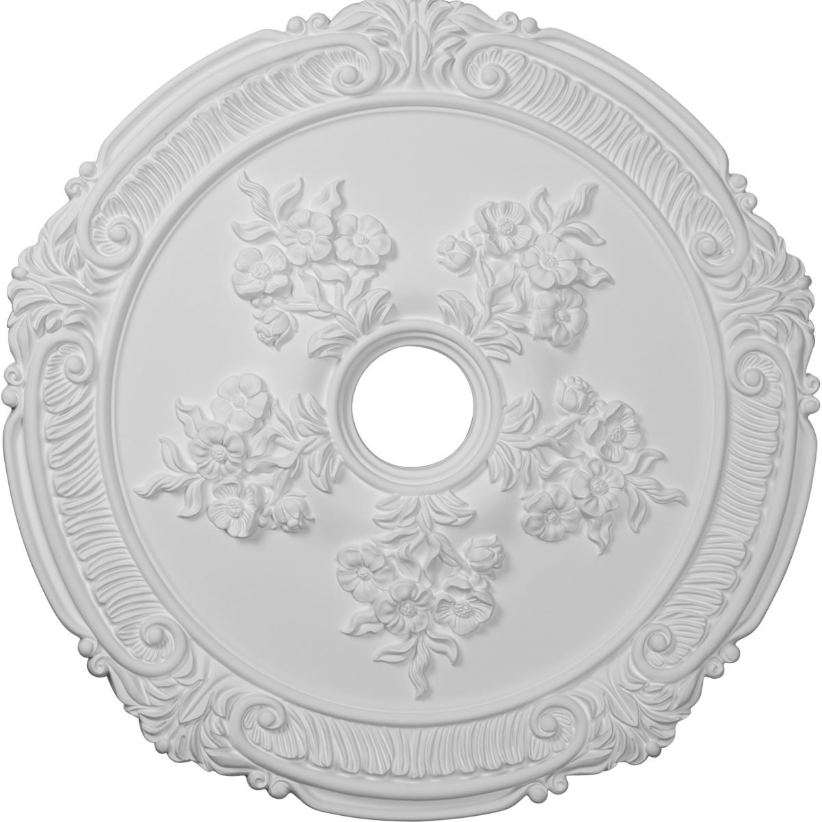 Ekena Millwork CM26AT 26-Inch OD Attica with Rose Ceiling Medallion