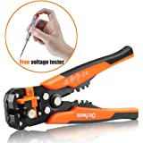 Dicfeos Wire Stripping Tool, Automatic Self-adjusting Wire Strippers from 10-24AWG, Quality 3 in 1 Stripping Cutting and Crimping Tools