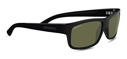 4ae3e3fbe9 Amazon.com  Serengeti Martino Sunglasses (Shiny Black 555nm ...
