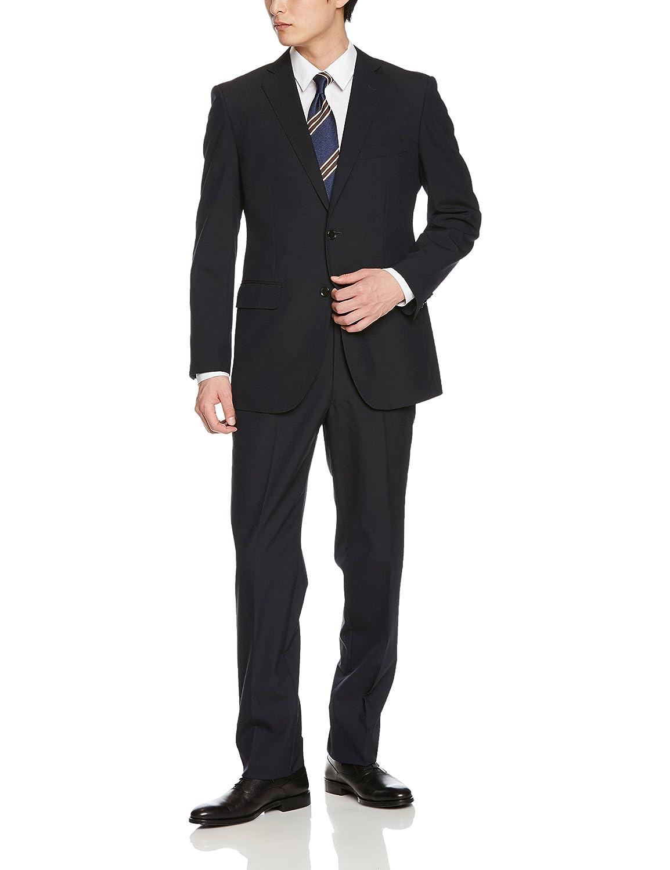 (はるやま) HARUYAMA シングル 通年物 2釦スーツ プリーツ加工 B079D7HHW3 日本 A7(身長175-180、ウエスト84cm)-(日本サイズXL相当)|ネイビー ネイビー 日本 A7(身長175-180、ウエスト84cm)-(日本サイズXL相当)