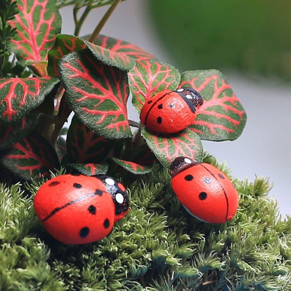 VANKER 10pcs DIY Artisanat Miniature Insecte Scarab/ée Coccinelle Ornement de Jardin
