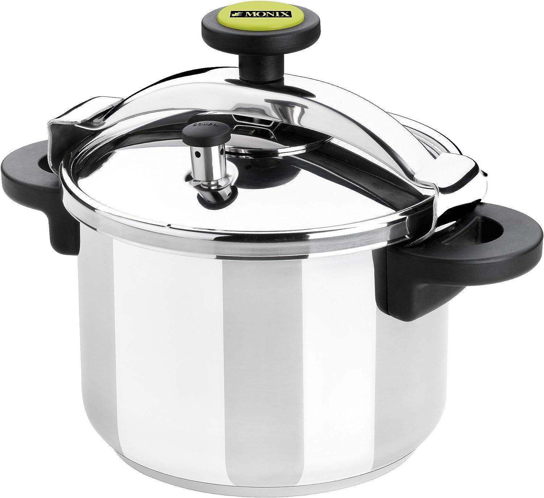 Monix Classica - Olla a presión tradicional de 8 litros, acero inoxidable, 24 cm, color gris: Amazon.es: Hogar