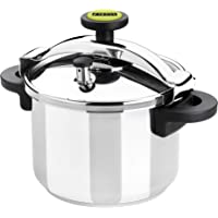 Monix Classica - Olla a presión tradicional de 8 litros, acero inoxidable, 24 cm, color gris