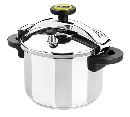 Monix M530004 Classica Olla a presión tradicional de 10 litros, acero inoxidable, 24 cm, color gris