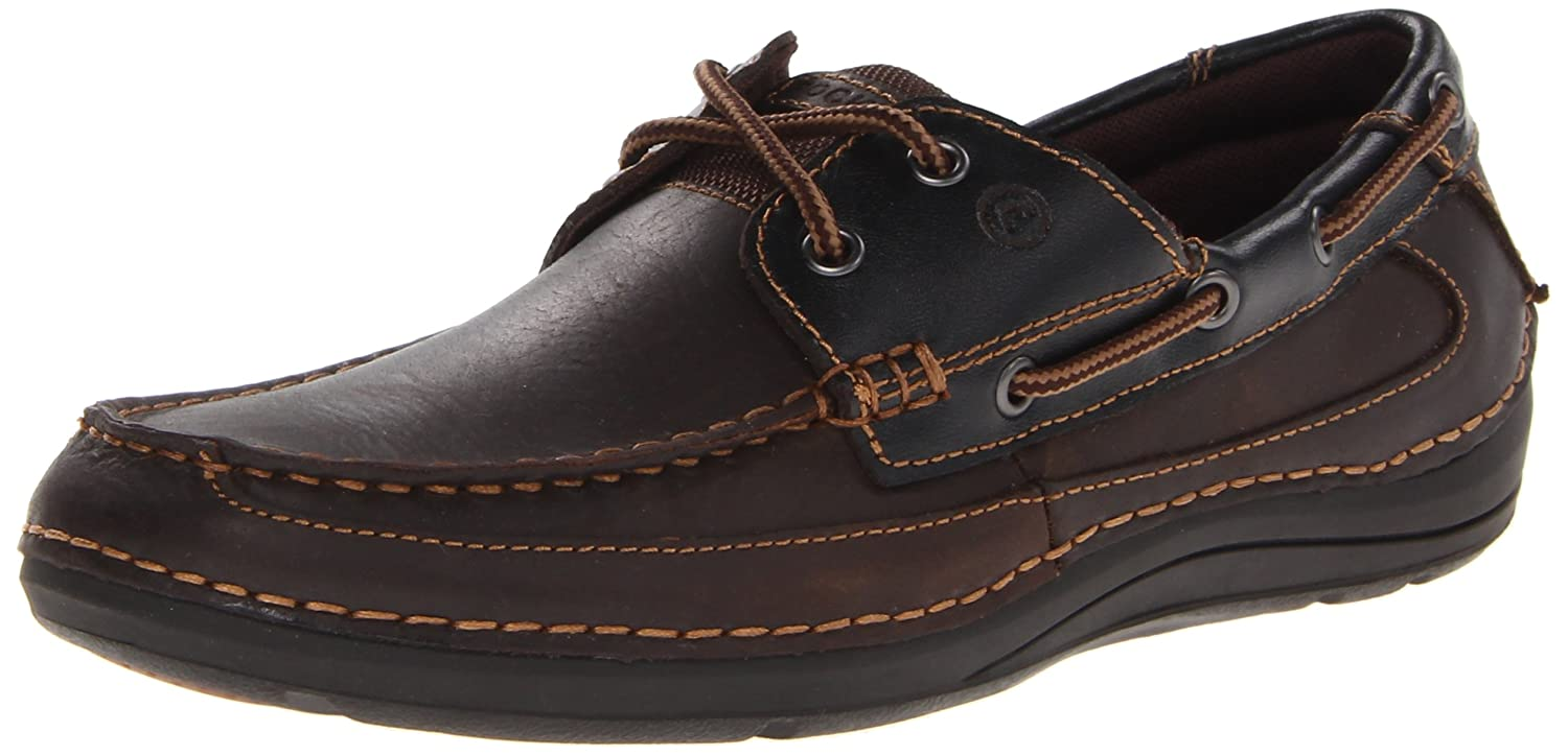 Amazon.com | Rockport Men's Sebert Lace-Up-Cocoa Leather-9.5 M | Loafers &  Slip-Ons