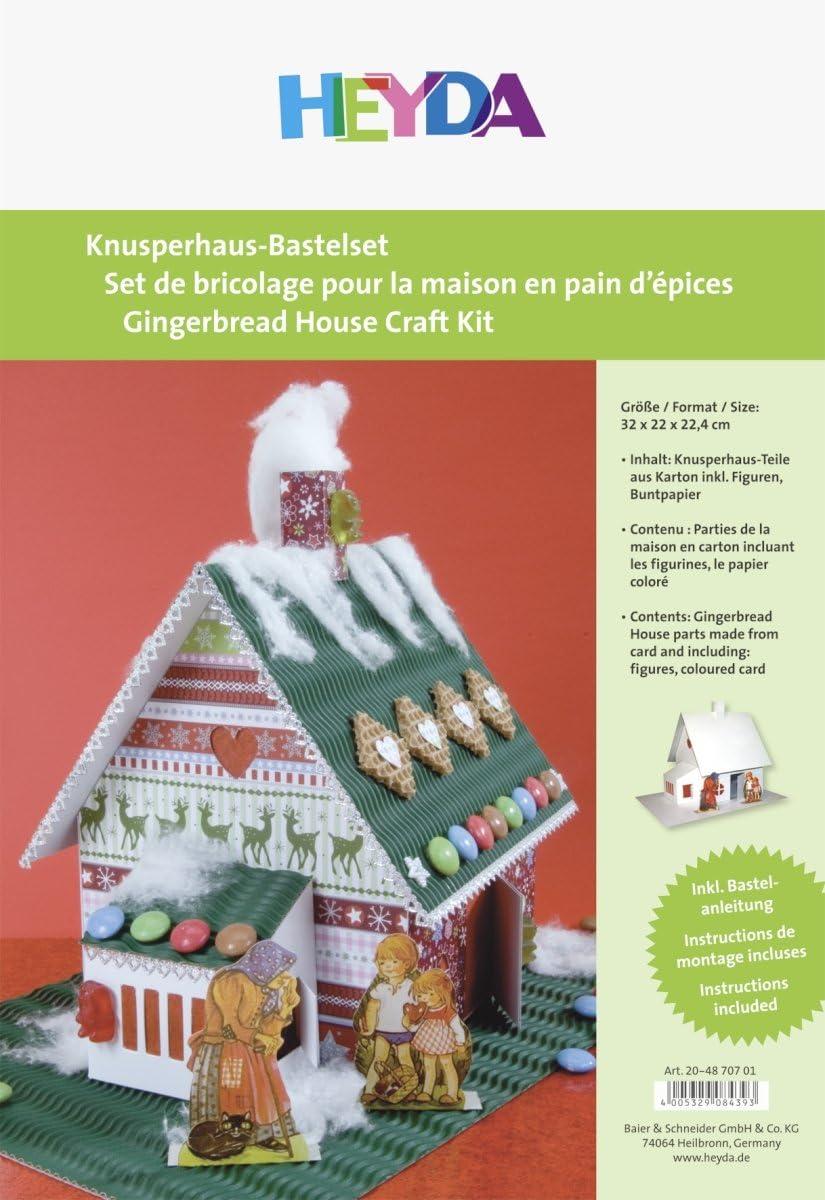 HEYDA 204870701 Crispy House Craft Kit White Cardboard