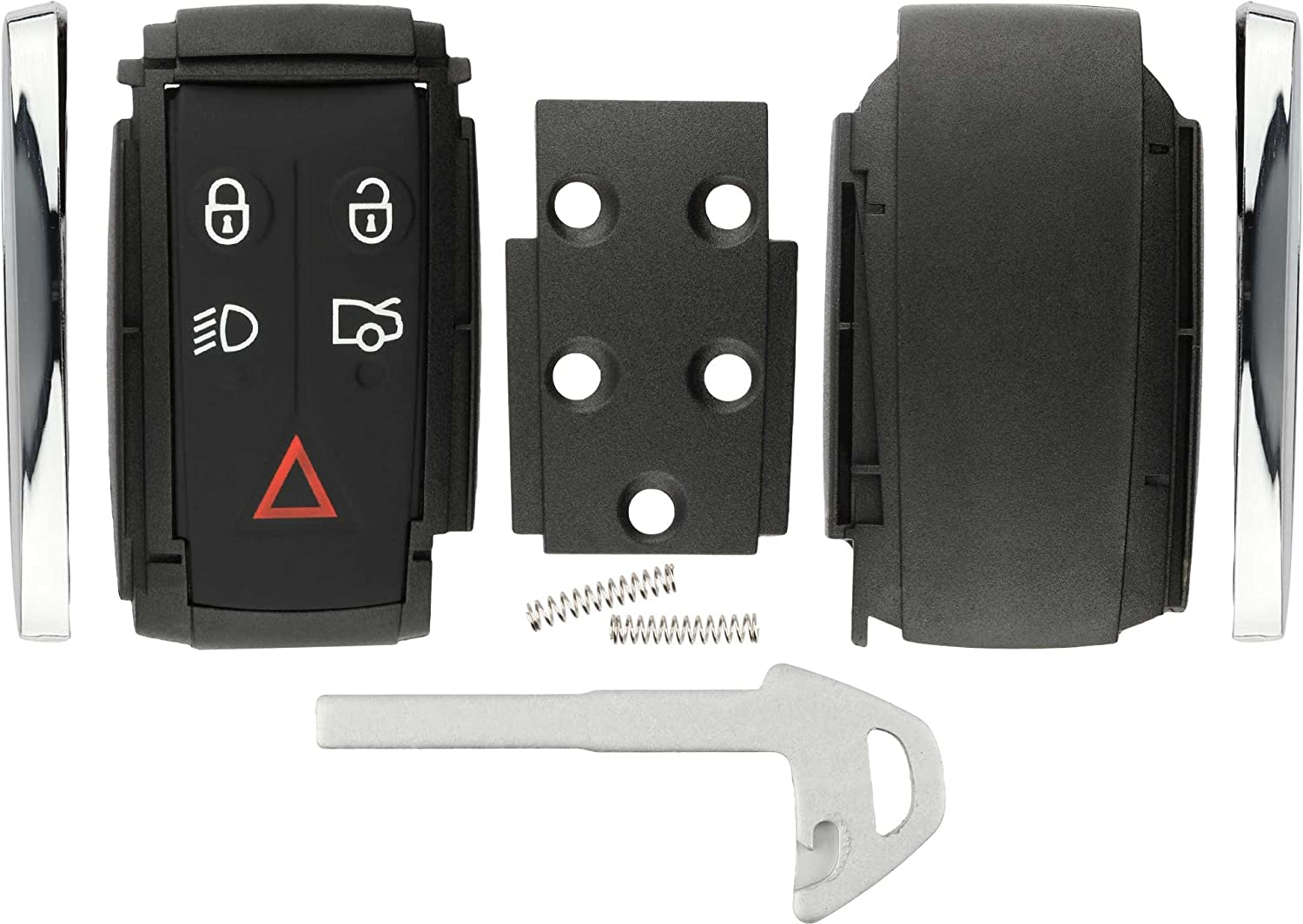 KeylessOption Keyless Entry Remote Smart Key Fob Case Shell Button Pad Outer Cover Rebuild Fix For Jaguar