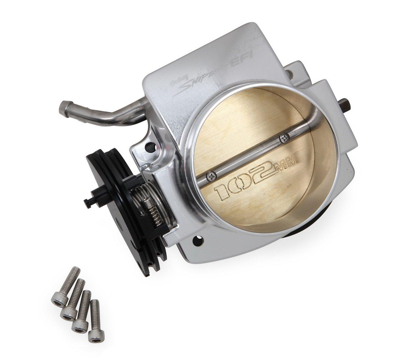 Holley 860002 Sniper EFI Throttle Body 102 mm Silver [Available While Supplies Last] Sniper EFI Throttle Body