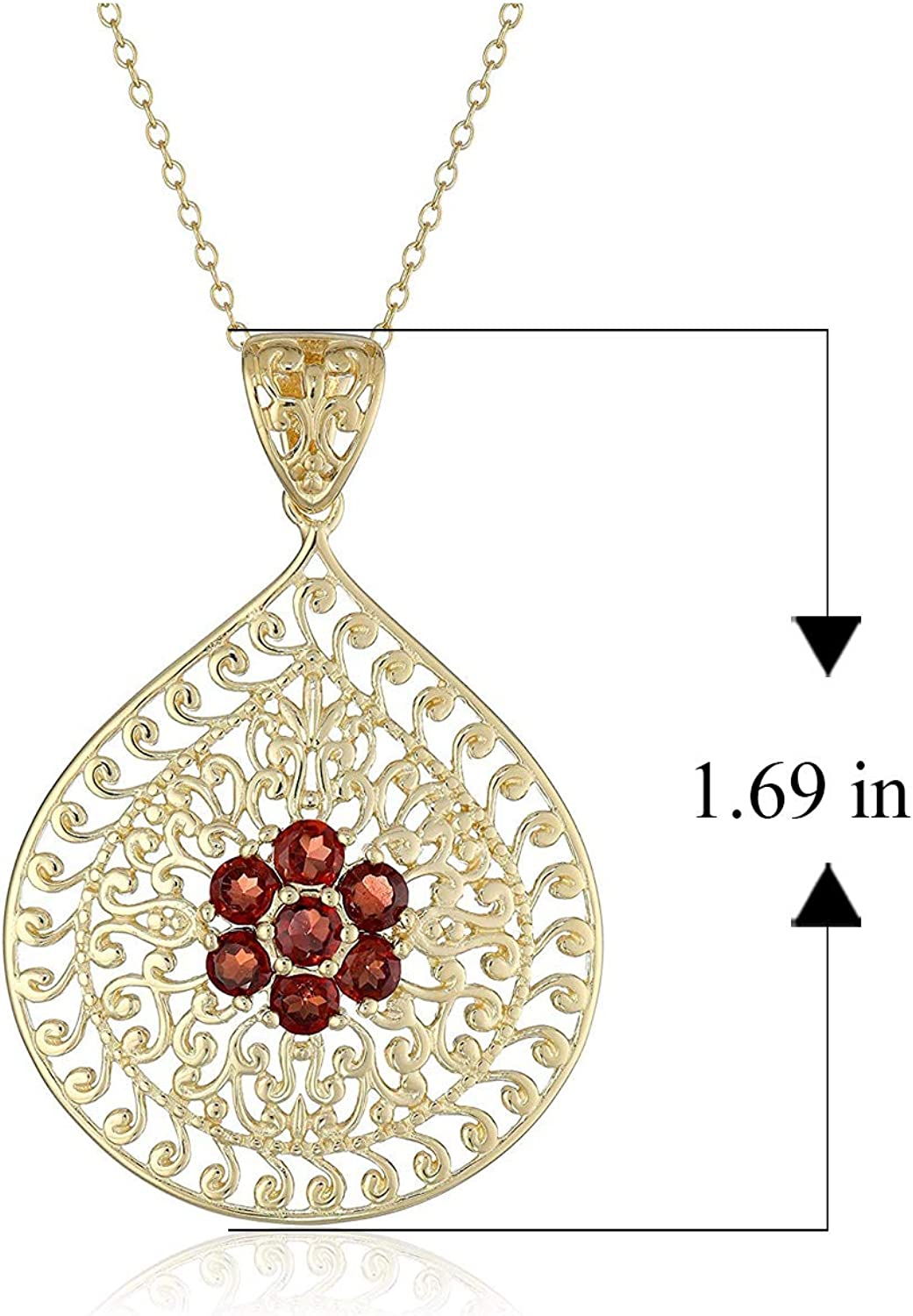 14K Yellow Gold-plated 925 Silver Smile Saying Pendant with 18 Necklace Jewels Obsession Saying Necklace