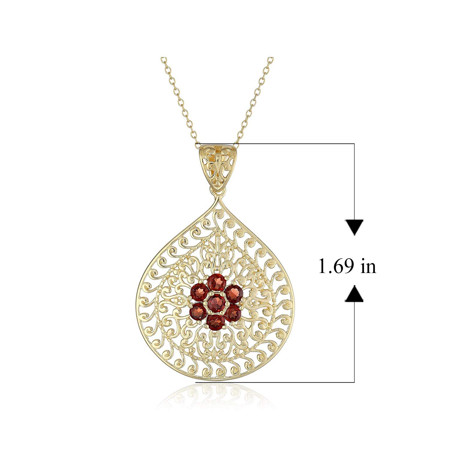 18K Yellow Gold Number Seven JEWELS OBSESSION 18K Number Seven 7 Pendant Made in USA