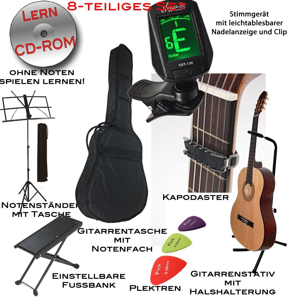 Andaluza Spanish Styled abeto – Guitarra clásica con para ...
