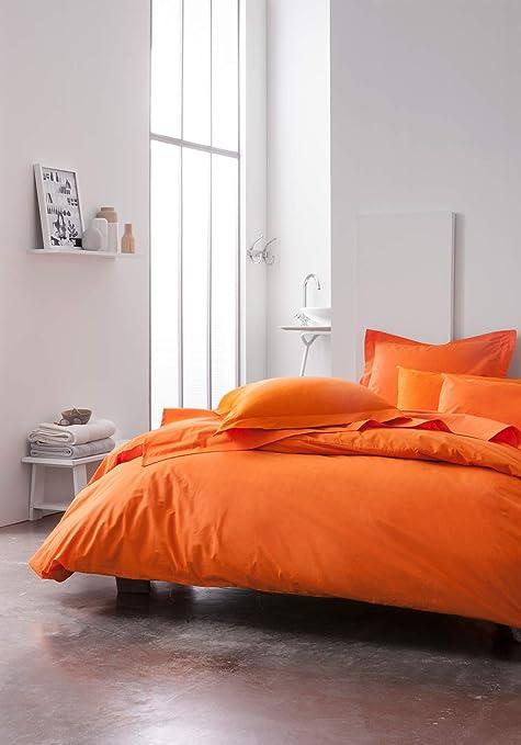 Today Drap Housse En Coton 201118 Mandarine 140 X 190 Cm Amazon Fr Cuisine Maison