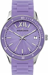 Jacques Lemans Womens Rome Sports Quartz Stainless Steel and Silicone Casual Watch, Color