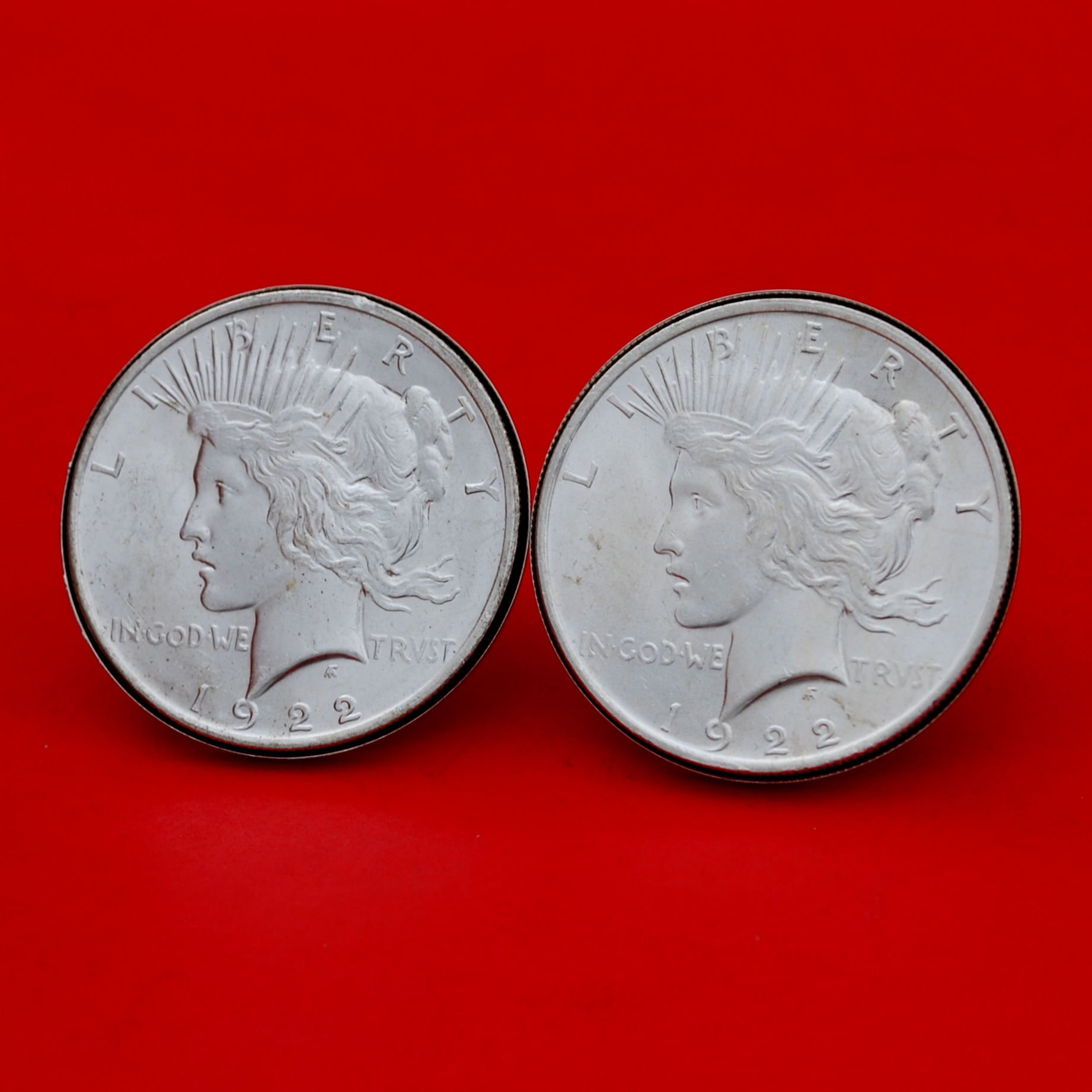 US 1922 Peace Silver Dollar BU Uncirculated Coins Silver Cufflinks NEW