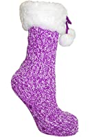 RJM Women's Pack of 1 Chenille Long Slipper Socks