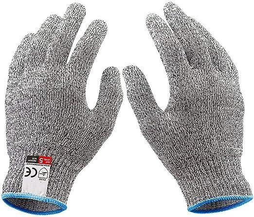 Gants de travail r/ésistants aux coups de coupure LayOPO Gants r/ésistants aux coupures HPPE Niveau 5 Protection des mains gants de cuisine pour hu/îtres sculpture sur bois coupe de viande
