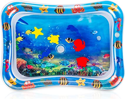 Baby Water Play Mat Inflatable For Infants Toddlers Fun Tummy Time Sea World YJ