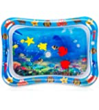 Tummy Time Water Play Mat, 7 Upgrade [2019 NEW] Inflatable Infant Baby Toys & Toddlers Fun Activity Play Center for Boy & Girl Growth Brain Development BPA-Free Baby Toys for 3-12 Months (26''x20'')