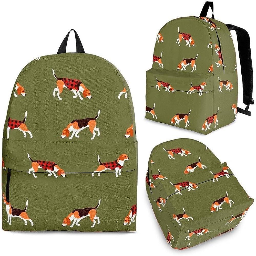Cute Beagle Print Backpack Set For Kids and Girls