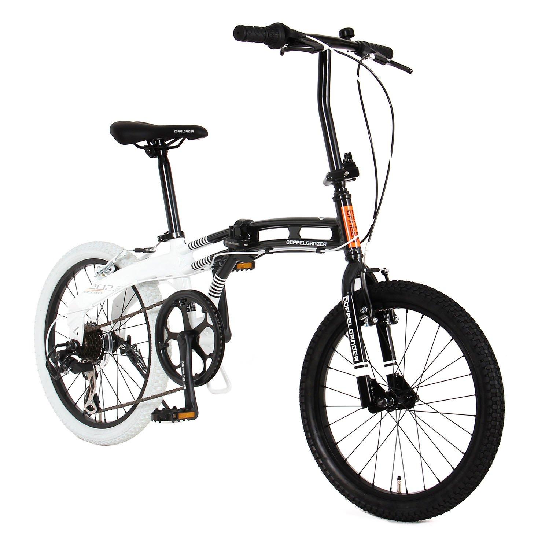 DOPPELGANGER(ドッペルギャンガー) 20インチ ライトウェイトフォールディングバイク BMXファットタイヤ blackmaxシリーズ DOTTWO 202-BK B06ZZSDVZZ