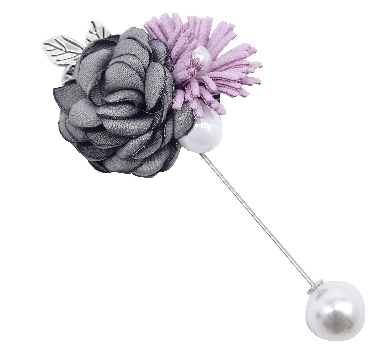 Tooky Boutonni/ère faite main avec fleurs et perles pour mariage