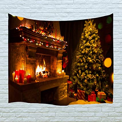 Xinyi Home Wall Hanging Holiday Art Polyester Fabric Christmas Theme Tapestry Home Decor For Dorm Room Bedroom Living Room Nail Included 90 W X