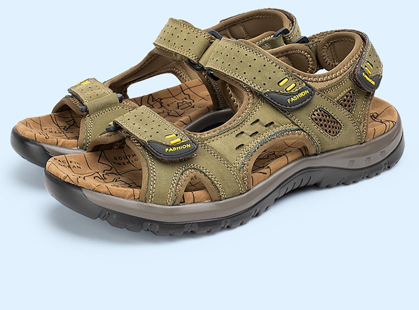 DHFUD Zapatos De Verano Para Hombres Sandalias Y Zapatillas Coreanas Zapatos  De Playa Chancletas De Cuero 0d0a55ac0a0ec