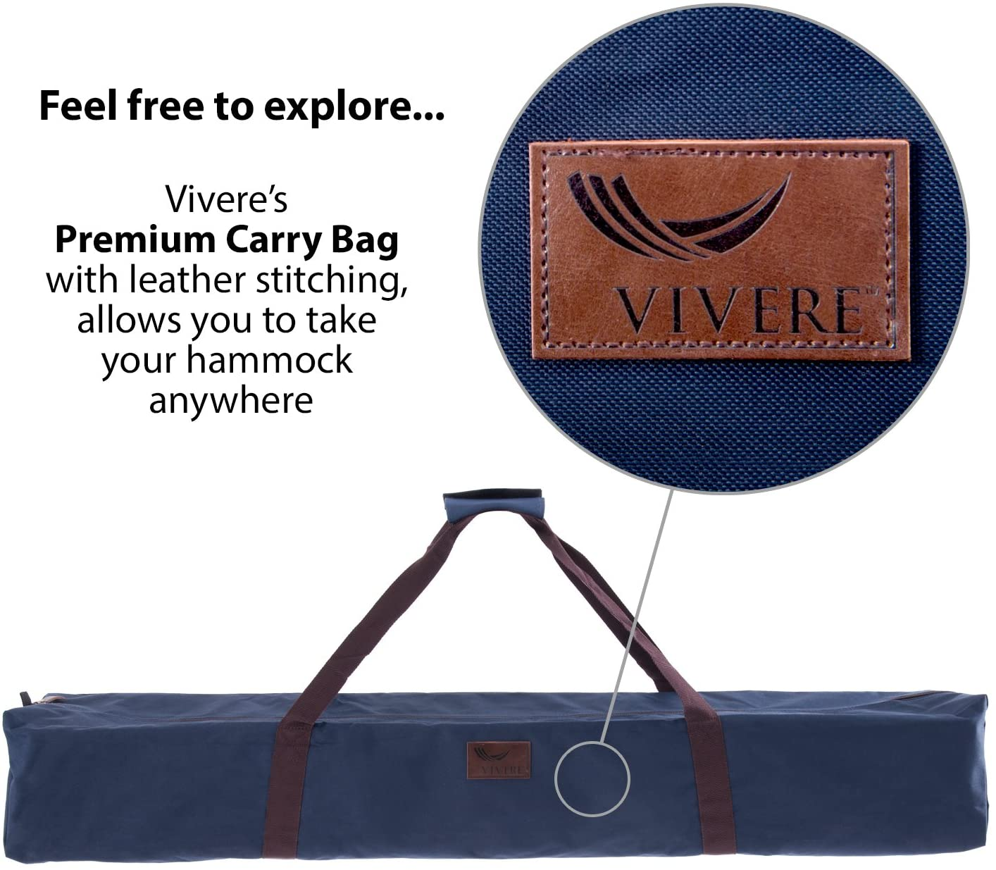 Vivere 9 ft Space-Saving Steel Hammock Stand - Charcoal