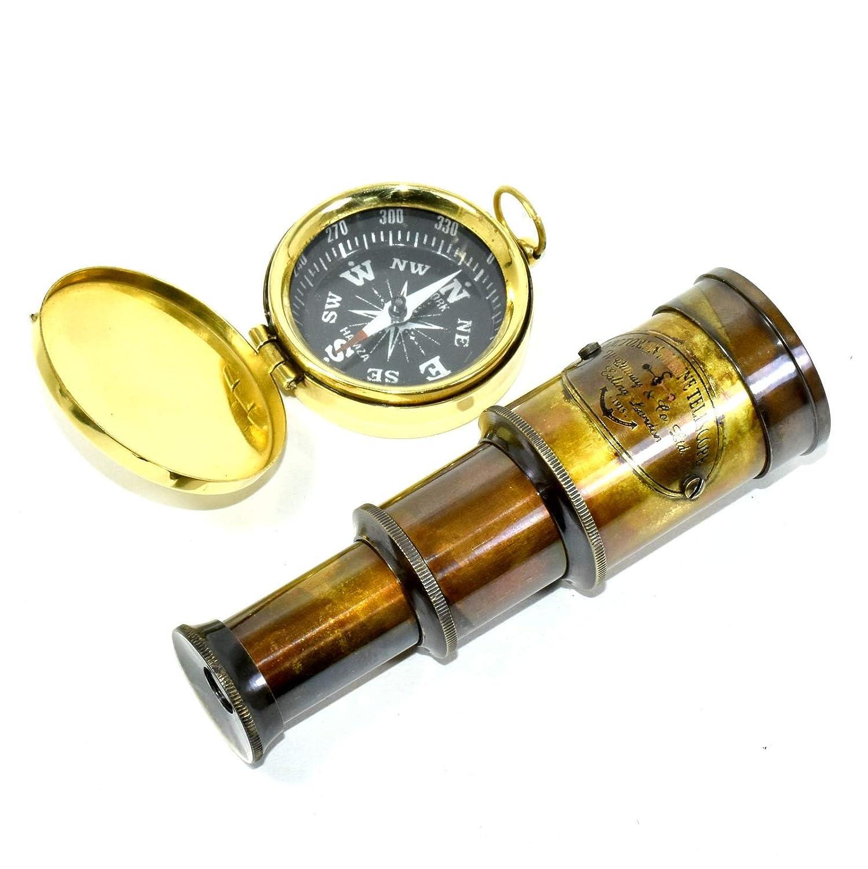 Eve.Store E.S Handmade Marine Navy Nautical Brass Telescope Vintage Spyglass