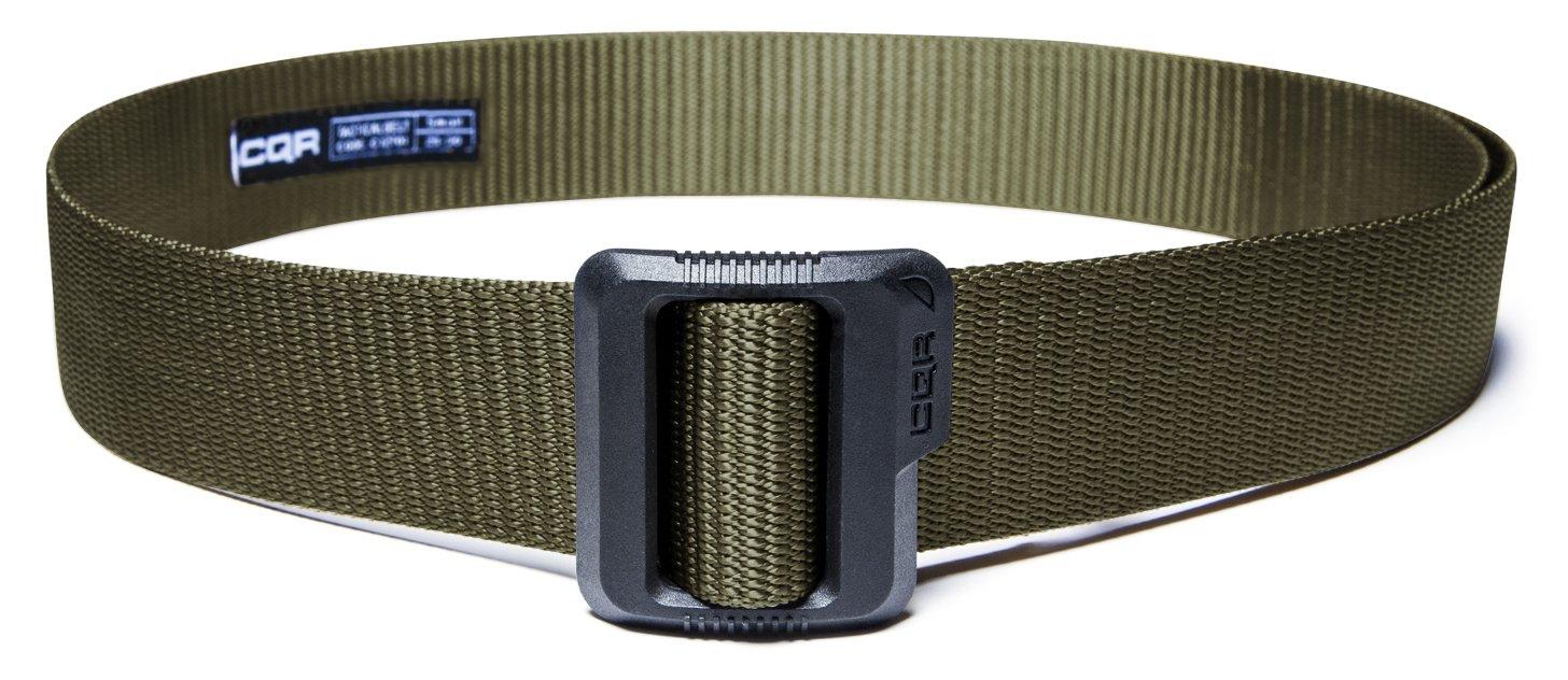 CQR CQ-MZT01-GRN_S(w28-30) Tactical Belt 100% Full Refund Assurance Nylon Webbing EDC Duty 1.5'' Belt MZT01 by CQR (Image #3)