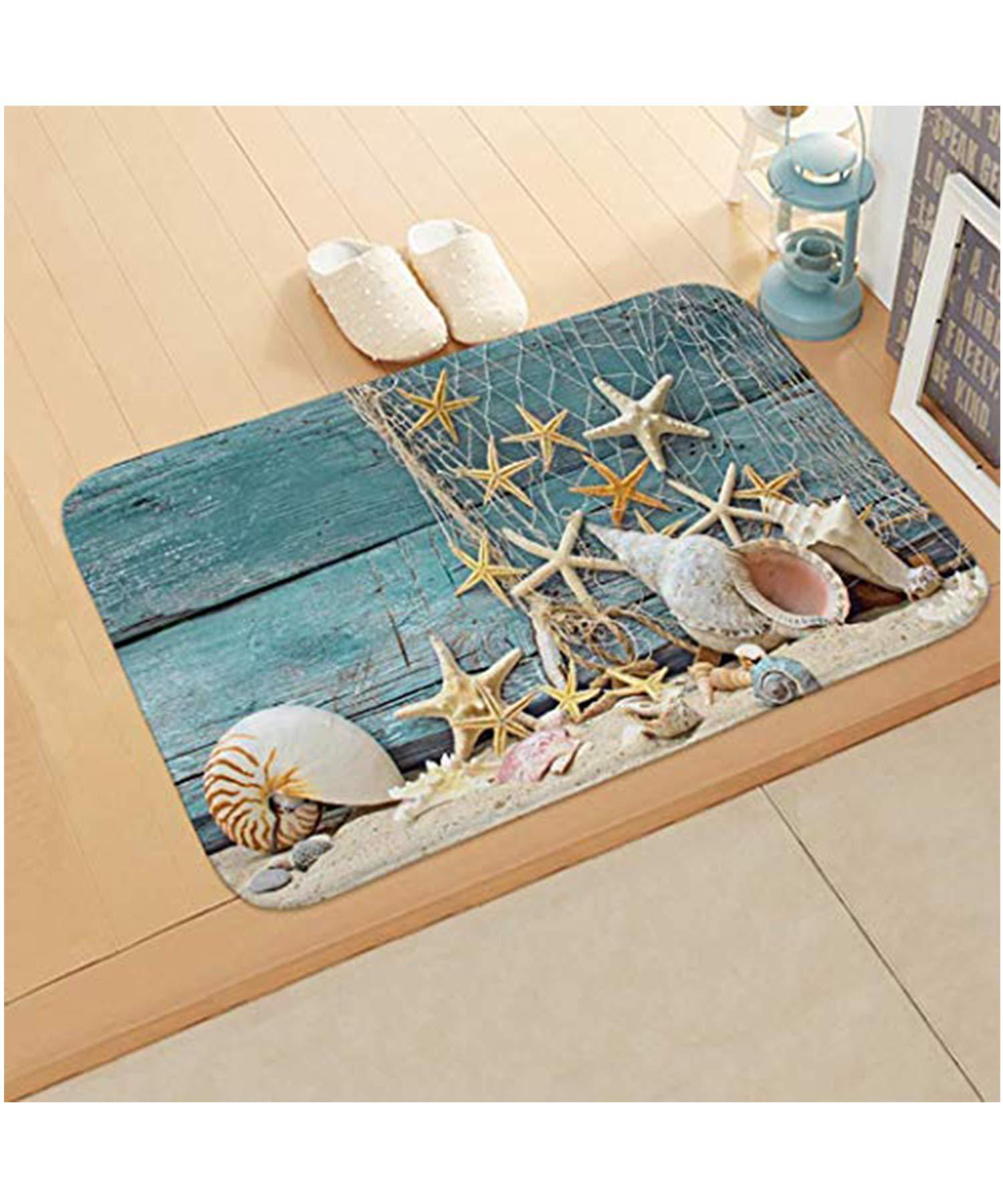 Yirind 1Pc Cute 3D Underwater World Printing Floor Mat Door Mat,Home Bedroom Bathroom Absorbent Non-Slip Carpet Mat,24 x 16inch