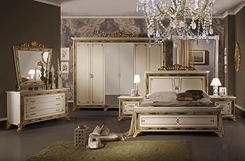 Schlafzimmer Karla beige Bett 180 Schrank 6trg Klassik ...