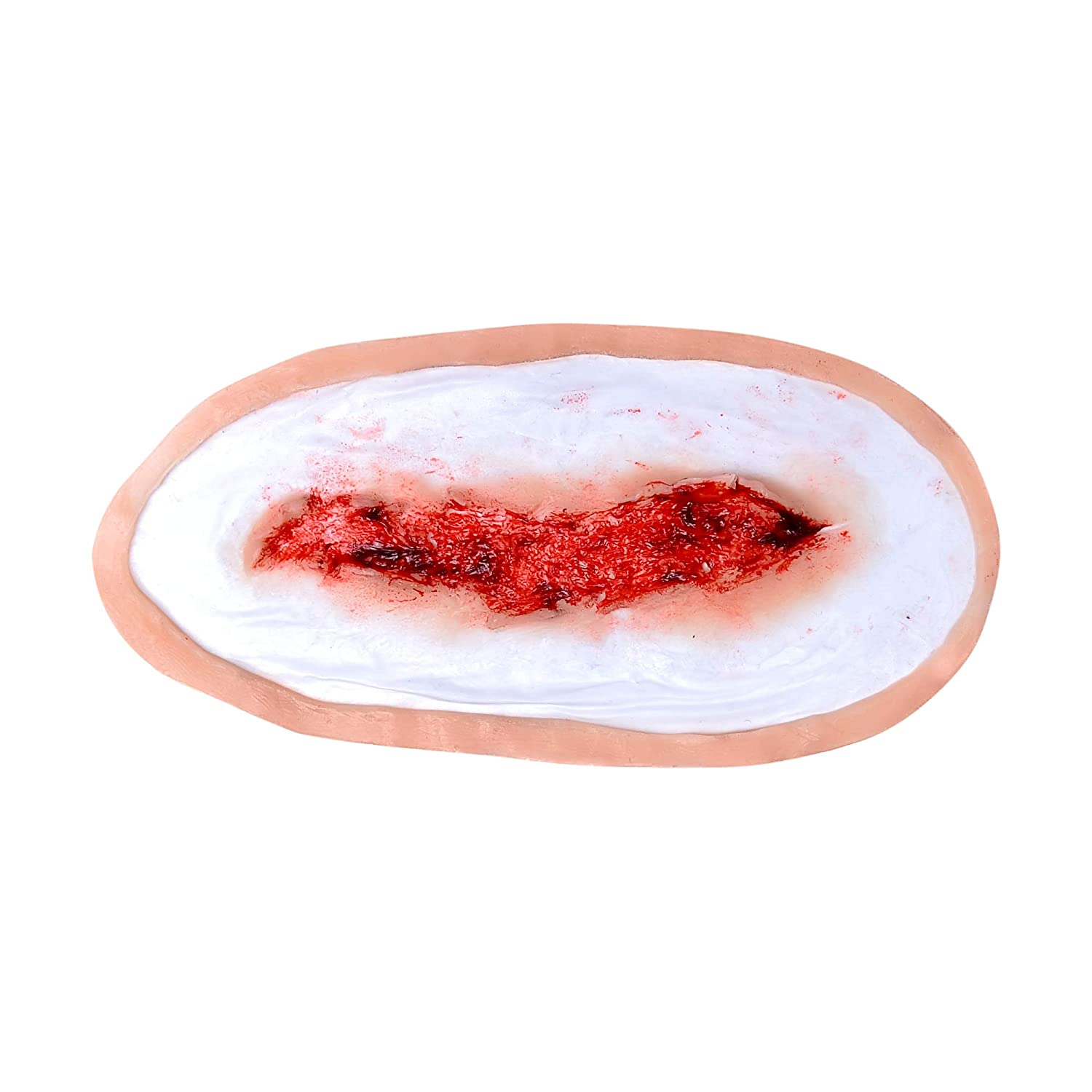 Forensic FX Simple Wound Pre-Colored Silicone Prosthetic Appliance, Special Effects Makeup for Halloween and Theater