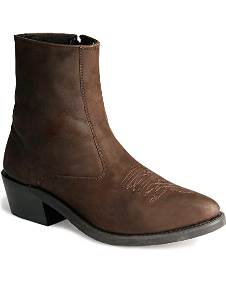 b142f802e3c Old West Men's Zipper Western Ankle Boot: Amazon.ca: Shoes & Handbags