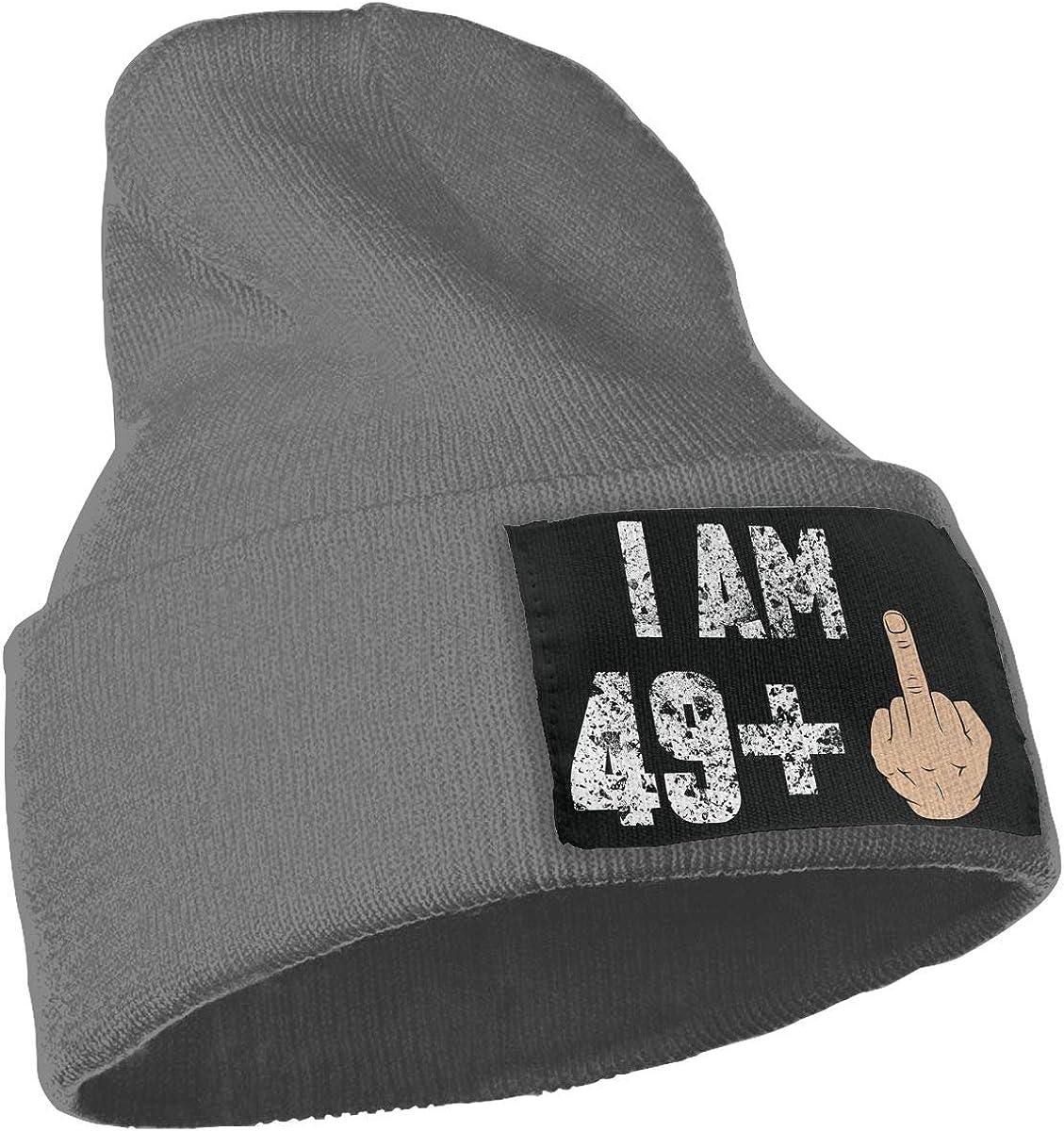 50th Birthday Gift Idea Warm Winter Hat Knit Beanie Skull Cap Cuff Beanie Hat Winter Hats for Men /& Women