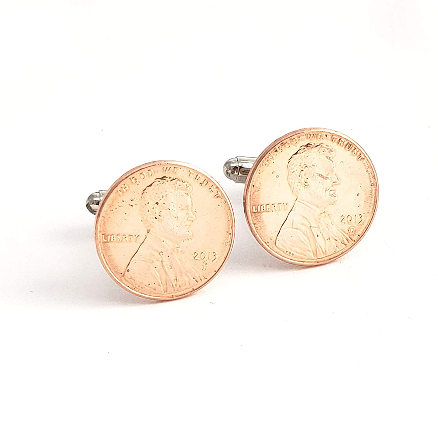 Penny Red Cufflinks /& Gift Pouch