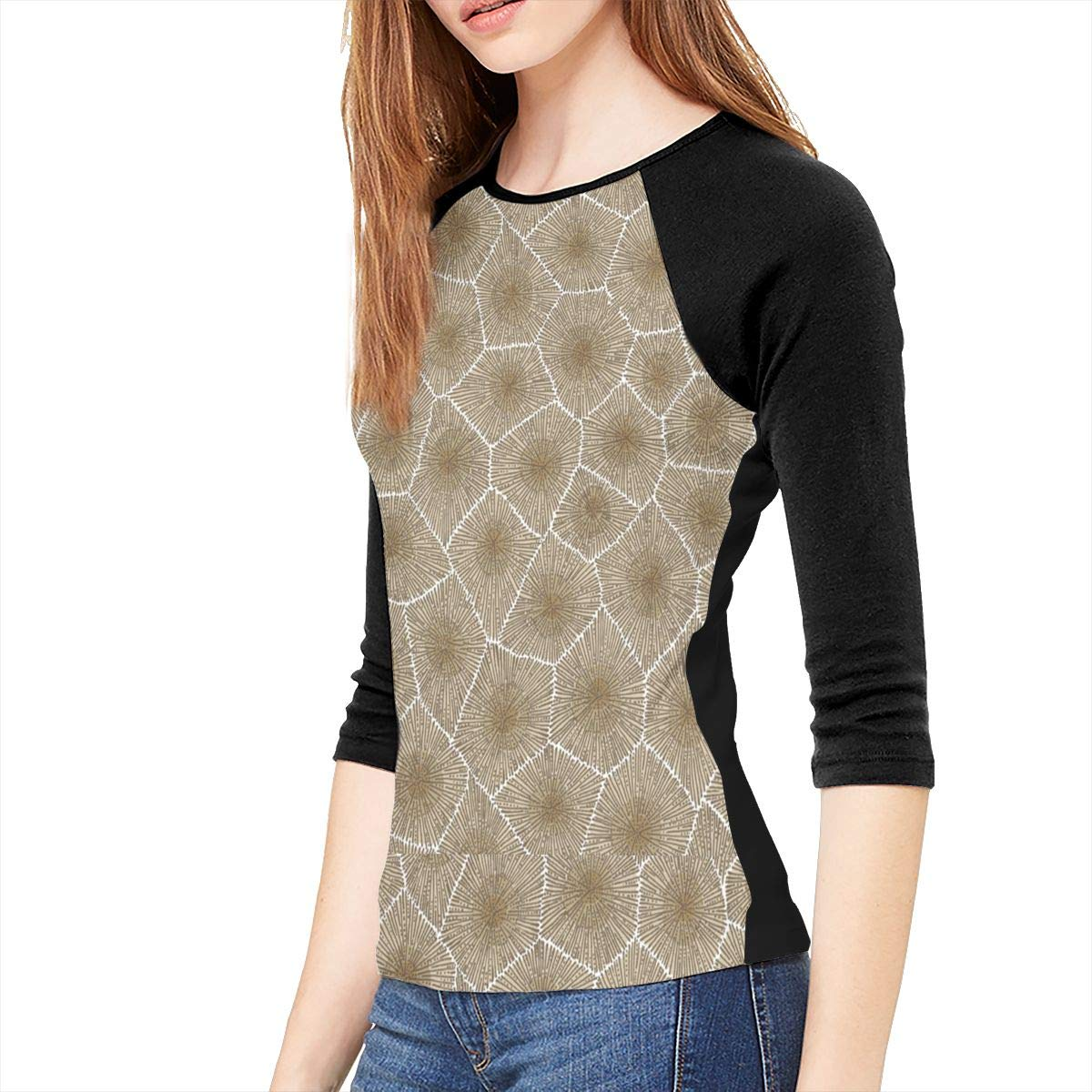 SHDFhgHGF Petoskey Stone Womens 3//4 Sleeve Casual Scoop Neck Tops Tee