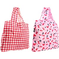 Envirosax Lane Reusable Shopping Bags, Cherry, Set of 2